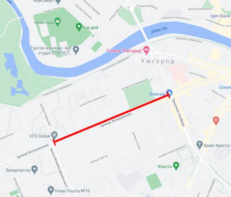 В Ужгороде перекроют одну из самых важных улиц: Проезд будет невозможен
