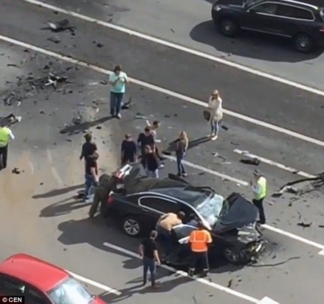 За рулем BMW находился водитель Путина, который погиб на месте аварии