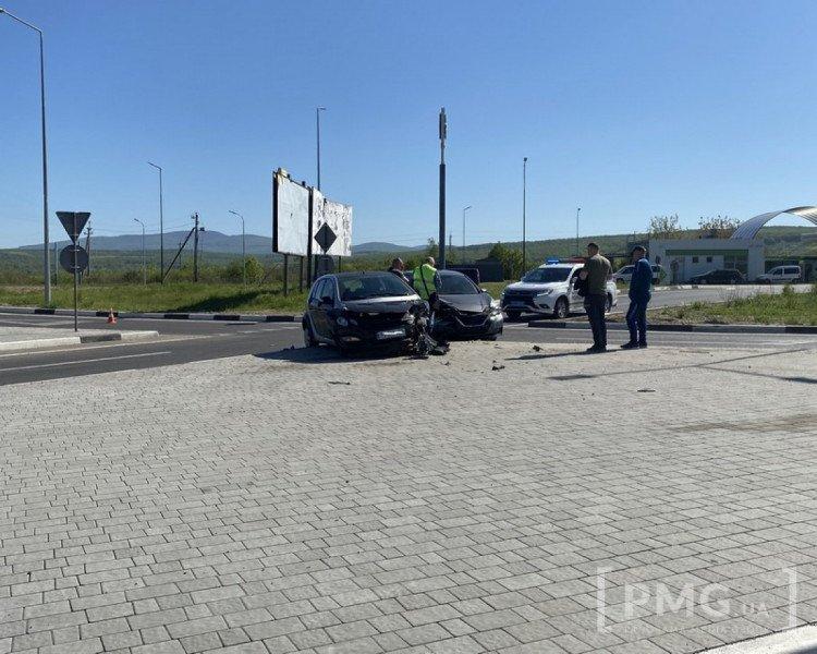 На выезде из Ужгорода ДТП