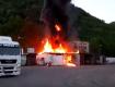 З'явилося відео з місця пожежі у Мукачеві