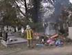 Сьогодні у Мукачево спалахнуло головне міське кладовище на вулиці Матросова