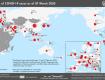 Распространение коронавируса в мире. Карта.