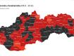 С 15 марта, 35 районов Словакии в соответствии с COVID-автоматом обозначены чёрным цветом