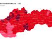 Розділення Словаччини по ковід-автомату з 03.05. по 09.05.2021