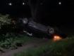 """ДТП возле Мукачево: Автомобиль совершил полёт с """"кувырком"""""""