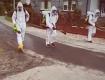 Село в Закарпатье, закрытое на карантин из-за коронавируса, подвергается массовой дезинфекции
