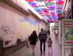 В Закарпатье вандалы изуродовали аллею с зонтиками