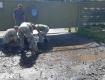 В Луцке перед визитом Зеленского военные выгребали воду из луж