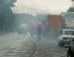 """На шоссе в Закарпатье с мусоровозом случилось """"огненное приключение"""""""