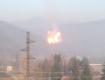Закарпатье: столб дыма и огня на месте прорыва газопровода