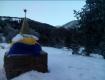 Русский в новогоднюю ночь поднял над самой высокой точкой Крыма украинский флаг