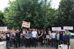 В Ужгороді перед окружним судом — мітинг за збереження Боржави