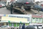 В Ужгороде эвакуатор забирает неправильно парковкованные машины