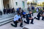 Police start joining street protests in several US cities