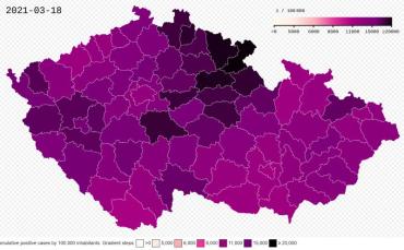 Чехиястала самой пострадавшей страной в мире по количествужертв от Сovid-19