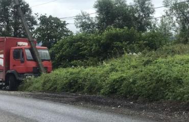 В Ужгороде огромный грузовик устроил ДТП