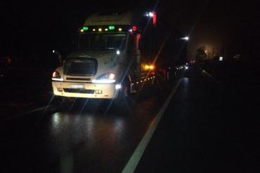Закарпатська поліція повідомляє про збитого вантажівкою пішохода