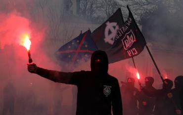 В Ужгороді пройшов «чорний» марш «Карпатської Січі»