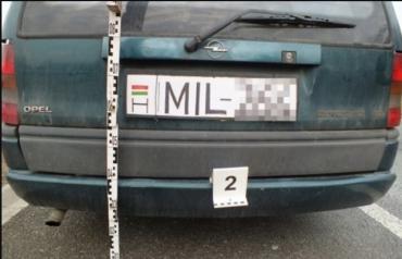 Угорець намалював собі автомобільний номер