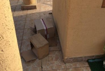 Картонні коробки біля пам'ятника Богородиці налякали місцевих