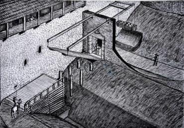 Як виглядав загадковий міст через зовнішній замковий рів у Невицькому замку на Закарпатті