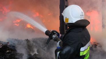 В самом центре Ужгорода горела квартира