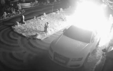 На Закарпатье ночью неизвестные сожгли дорогое авто