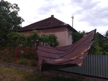 Жахливі наслідки негоди у столичному районі Закарпаття: повалені дерева, стовпи та зірвані дахи