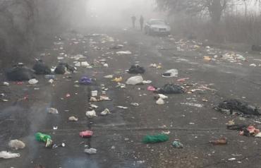 "Авштошляхи на Закарпатті ""встелені"" не асфальтом, а сміттєвим непотребом"