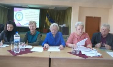 Слова вдячності Галині Сваричевській за 45 років роботи у профспілці працівників торгівлі Закарпаття