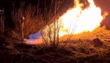 Газогін спалахнув через підпал сухостою неподалік Львівського летовища