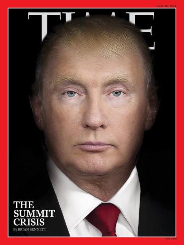 Путин и Трамп появились в одном лице на обложке Time