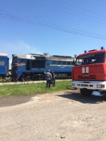 Спасатели рассказали о случае с возгоранием поезда в Закарпатье
