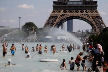 В Европе сегодня самый жаркий день
