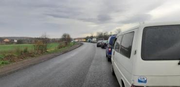 На выезде из Мукачево образовались огромнейшие пробки