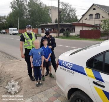 В Закарпатье два потерянных ребёнка на обочине дороги вызвали у людей настоящее волнение