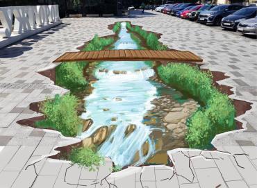 В центре Ужгорода предлагают создать уникальное граффити-телепорт