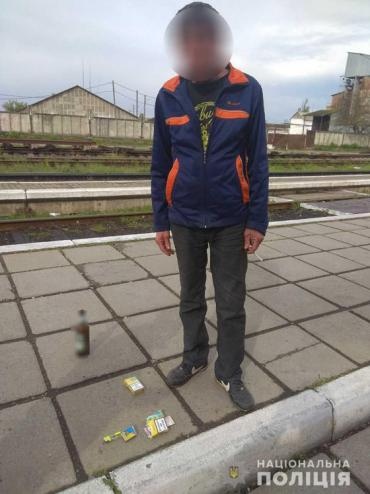 На Закарпатье хулиган с пивом попал в поле зрения полиции