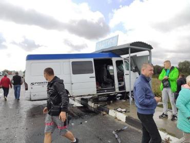 """На трассе """"Киев-Чоп"""" микроавтобус протаранил маршрутку"""