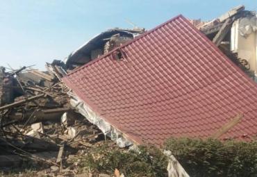 В Закарпатье взрыв газа полностью разрушил дом