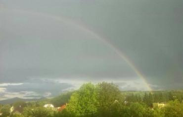 Невероятное природное явление сняли в небе над Закарпатьем