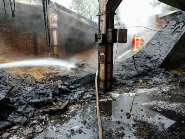 У горах Закарпаття під ранок ліквідовували велику пожежу