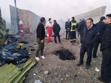 Ни одного выжившего: В Иране потерпел крушение украинский самолёт