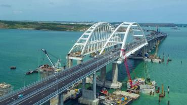 The Kerch Strait bridge is officially opened