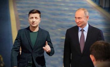 Киев - Москва : Зеленский впервые поговорил с Путиным