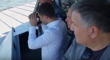 Главнокомандующий Зеленский ознакомился с подразделениями морской охраны Госпогранслужбы в Азовском море