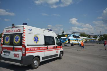 Закарпаття. Як рятувальники вагітну жінку в Ужгород гелікоптером везли