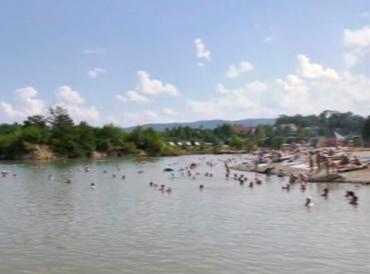 Соленые озера Солотвино в Закарпатье