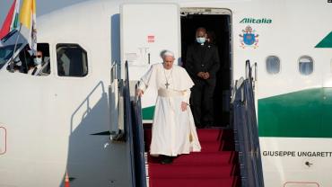 Папа римский Франциск прибыл в Будапешт, где отслужит мессу и проведет встречу с премьер-министром Виктором Орбаном.