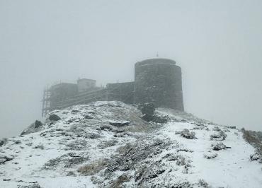 В Карпатах пошел первый снег, ударил мороз